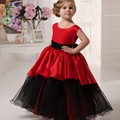 2017 Red Flower Girl Dresses Ball Gown Purple Fuchsia Royal Blue Birthday Girl's Prom Party Dresses Customized HT170