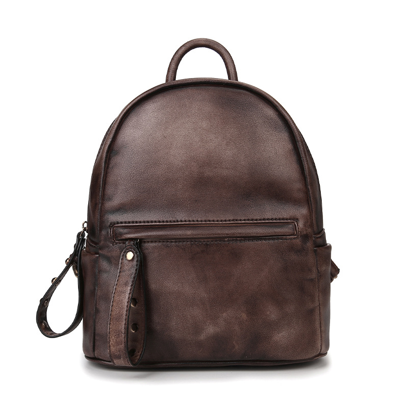 2017 New Fashion Brush Color Women s Genuine Cowhide Leather Backpack Shoulder Sling Bag iPad Phone