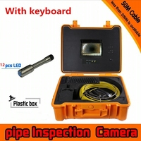industry Endoscope Camera HD 800TVL line 7 inch TFT LCD Display Sewer Pipe Inspection Camera System version with Keyboard