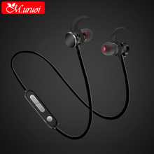 M.uruoi Wireless Bluetooth 4.1 Earphone Magnetic Handsfree Earbuds Sport Stereo Headset With Mic Noise canceling for Smartphone