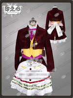 Аниме Алиса: безумие возвращается lucky Rabbit бордовый бархат вечерние партии Мода косплэй костюм рубашка + жилет пальто