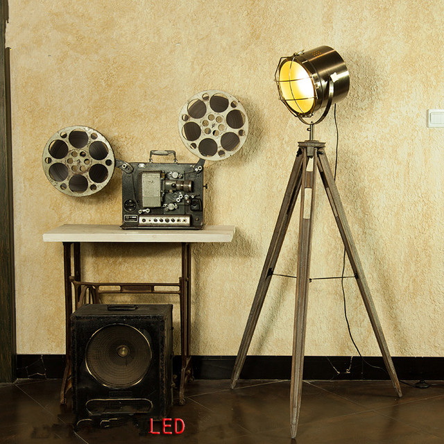 American fashion vintage wooden lamps fitting solid wood american fashion vintage wooden lamps fitting solid wood searchlight floor lamp retro copper lights aloadofball Images