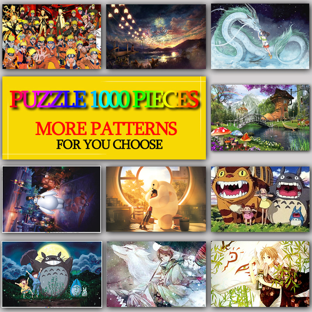 MOMEMO Multiple Patterns Adult Puzzle 1000 Pieces Wooden Jigsaw Puzzles Wooden Toys Challenging Puzzle Games Children Kids Toys