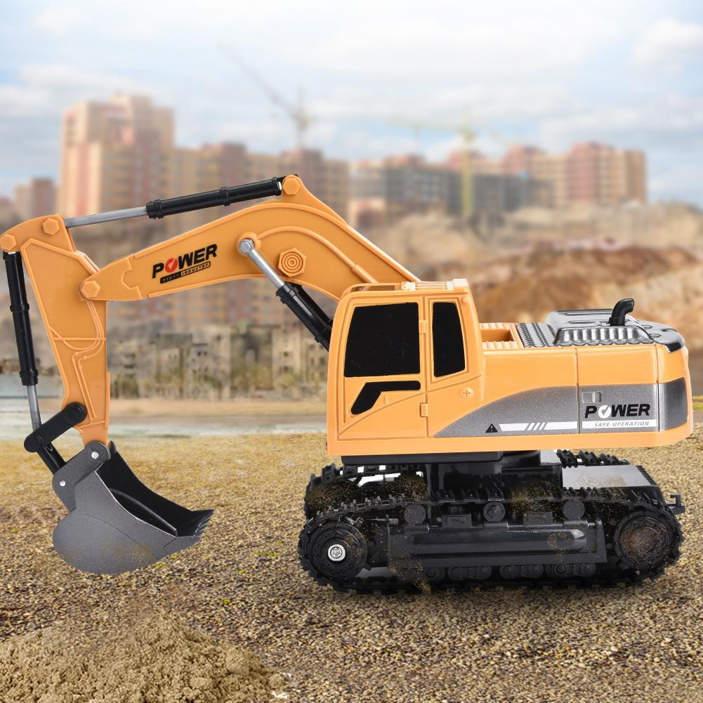 258-1 40MHz 6 Channels 3km/h Remote Control Excavator Truck <font><b>1/24</b></font> <font><b>Scale</b></font> <font><b>RC</b></font> Engineering <font><b>Car</b></font> Truck Gifts Toys For Children image