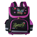 2016 Orthopedic Children School Bags For Girls purple butterfly Backpack Princess nylon Schoolbag Mochila Infantil 11color