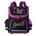 2016 Ortopédica Niños Mochilas escolares Para Las Niñas mariposa púrpura Princesa Mochila de nylon Mochila Mochila Infantil de 11 colores