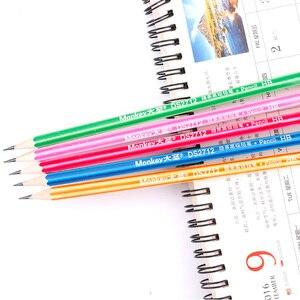 Image 5 - 100Pcs Houten Potlood Lot Candy Kleur Potloden Met Gum Leuke Kids School Office Schrijven Levert Tekening Koreaanse Potlood Graphite