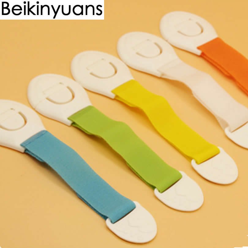 5Pcs / Lot Baby Safety Protection Drawer Locks Children's Safety Security Blocks Doors Drawers Color Multifunctional Locks