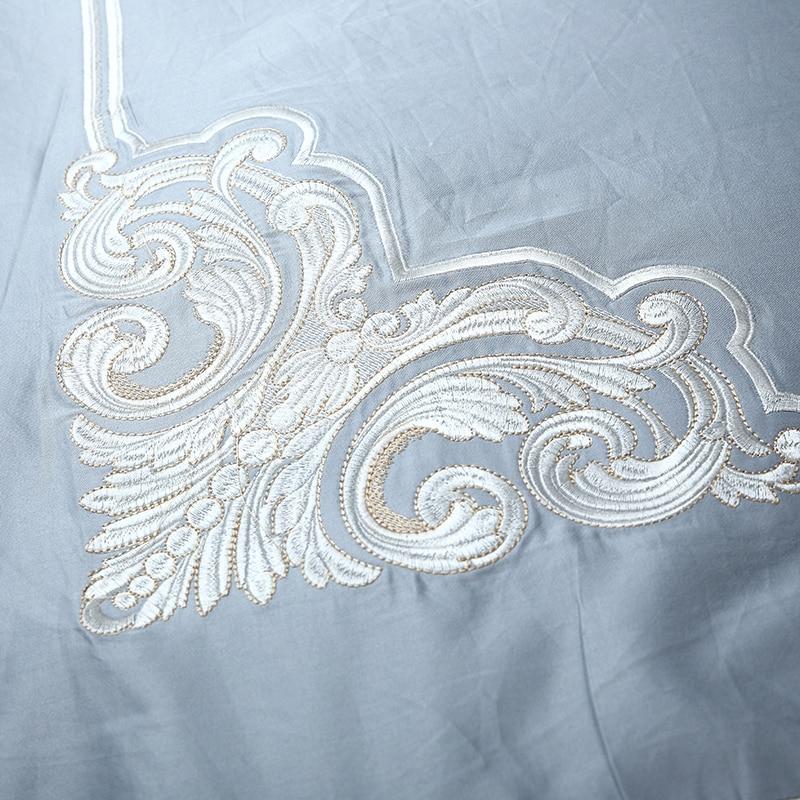 4/6 Pcs Luxo 80 S Algodão Egypt Palácio Bordado set capa de Edredão da Folha de Cama Jogo de Cama Da Listra Da Zebra fronhas Queen size Rei - 2