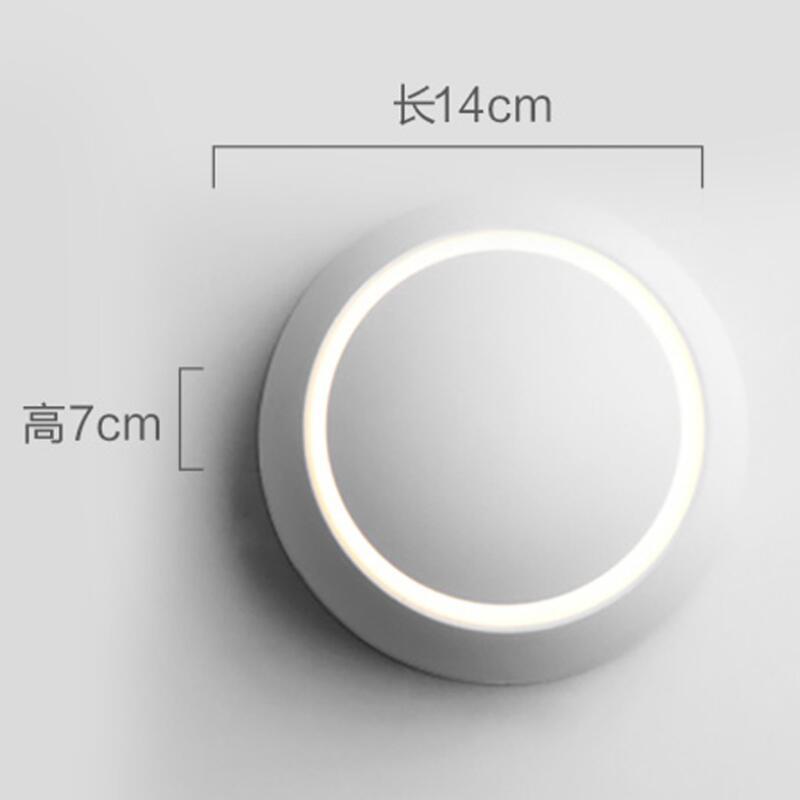 5 W lampe de mur LED 360 degrés Rotation réglable lune lampe créative moderne applique murale couloir allée escalier lumières