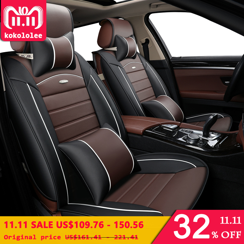 [kokololee] pu leather car seat covers for granta chrysler 300c fiat linea kia sportage 2 3 4 opel astra j h g k car accessories high quality pu leather car seat covers fit ford focus 2 bmw e60 chevrolet cruze vw golf mk2 passat cc kia sportage chrysler