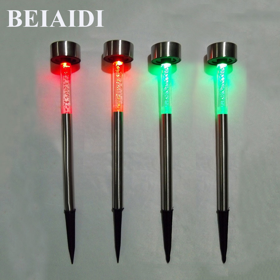 BEIAIDI 10PCS Acrylic Bubble Solar Garden Lights RGB Waterproof Landscape Pathway Spike Spotlight Outdoor Solar Led Stake Lamp