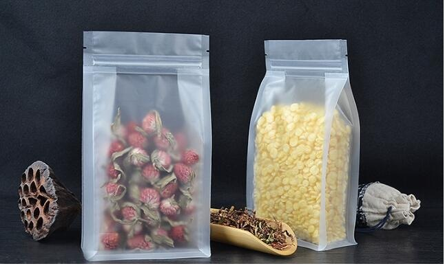 Cat And Dog Food Packaging Bags Storage Bags Objective Alice,50pcs/lot Transparent Frosted Pouches Food Packaging Bag Tea Bag,stand Up Bag