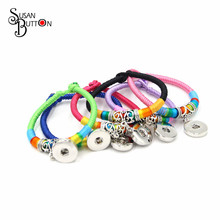 Newest Mixed 6 Color Retro Braided Rope Bracelet Multicolor Silk Yarn Interchangeable  Snap Charms Bracelet Jewelry SJS2407-in Charm Bracelets from Jewelry ... b9e25cbdc3d1