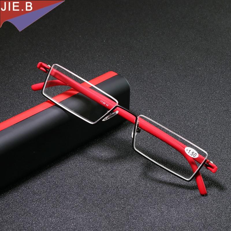 משקפיים מתקפלים במיוחד קל משקל גברים TR90 חצי משקפי קריאה נשים מיני משקפיים פרסביופיים gafas de lectura lesebrille