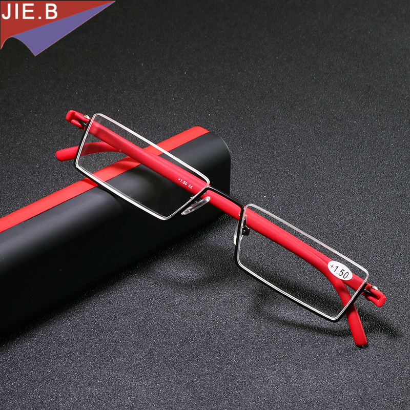 Ultra Ringan Kacamata Lipat pria TR90 setengah Kacamata Baca Wanita MINI Kacamata Presbyopic gafas de lectura lesebrille