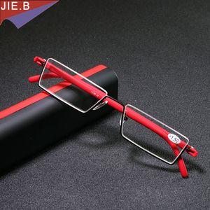 Ultra Lightweight Foldable Glasses men TR90 half Reading Glasses Women MINI Presbyopic Eyeglasses gafas de lectura lesebrille