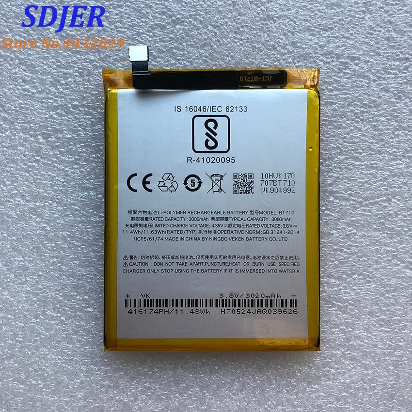 Alta qualidade original para meizu mei zu azul a5 bt710 bateria m5c m710m m793q batterie batterij acumulador 3060 mah