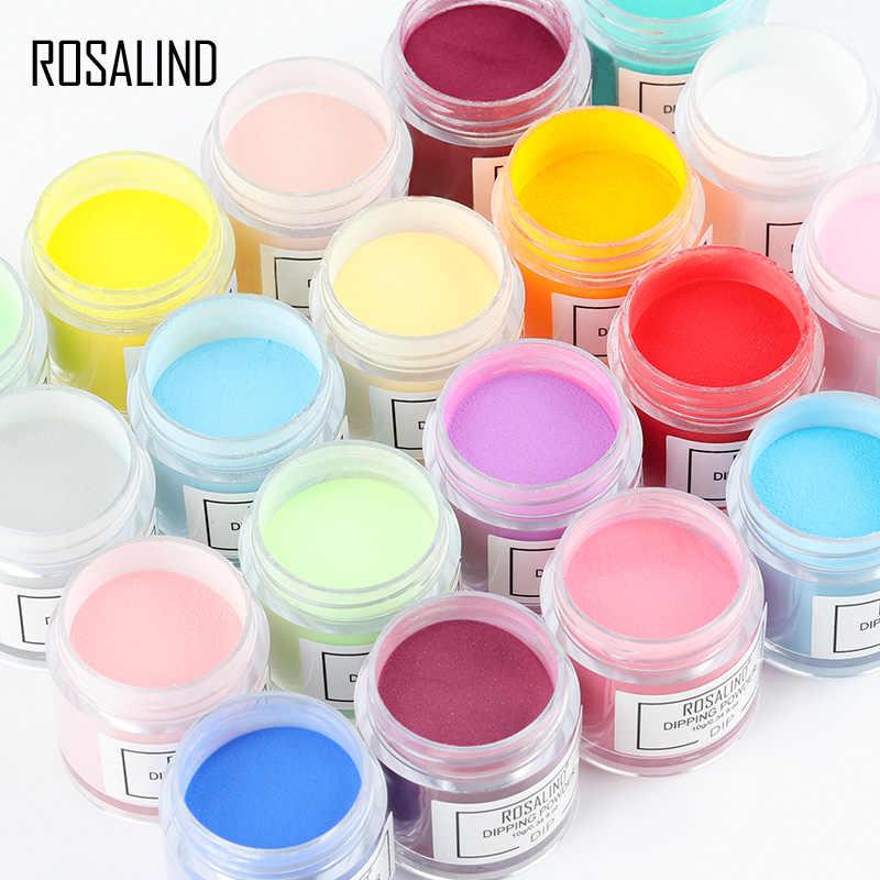 ROSALIND purpurina juego de polvo de inmersión holográfica arte de uñas espejo en polvo para manicura de uñas de cromo polvo acrílico para esmalte de Gel