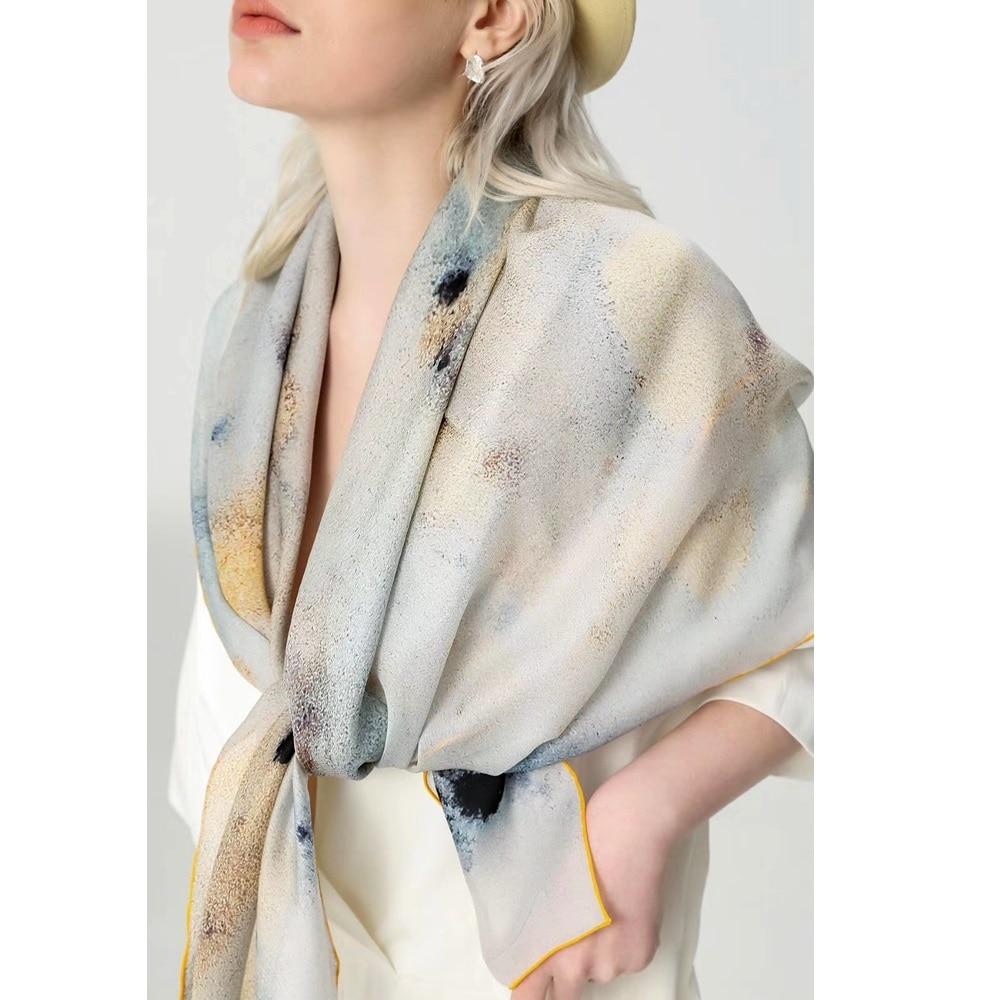 Luxury 100% Silk Scarf Shawl For Holiday Fabulous 110*110cm