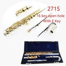 Япония профессиональная флейта 271/271 S с E 16 отверстие открытое отверстие C тон Посеребрённый золотой ключ флейта, музыкальный инструмент flaw