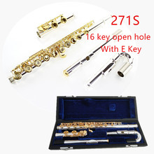 Japan Professional Flute 271/271S With E 16 Hole Open Hole C