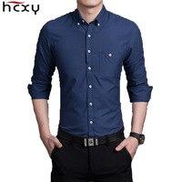 2015 New 11 Color M 5XL Fashion Men Long Sleeve Mens Shirts Slim Fit Social Homme