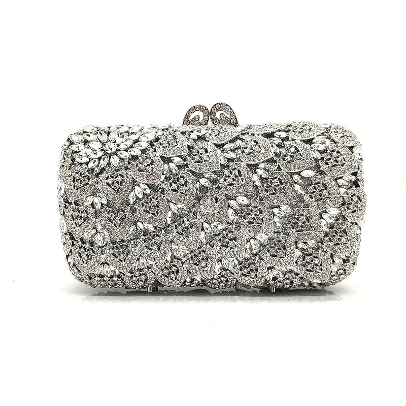 Fashion design clutches women evening party bag diamonds elegant crystal purses bridal wedding party bag crystal