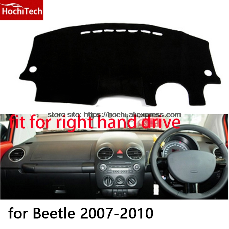 For Volkswagen VW beetle right hand drive dashboard mat Protective pad black car-styling Interior Refit Sticker Mat products for toyota prius 2012 2013 right hand drive dashboard mat protective pad black car styling interior refit sticker mat products