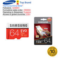 SAMSUNG 100% Original TF Micro carte SD carte mémoire MicroSD EVO Plus Class10 U3 32GB 64GB 128GB 256GB Smartphone tablette appareil photo