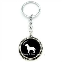 Cute animal pture pendant keychain Labrador Retriever Dog art ring jewelry steampunk pet lovers gift boys, girls jewelry T367