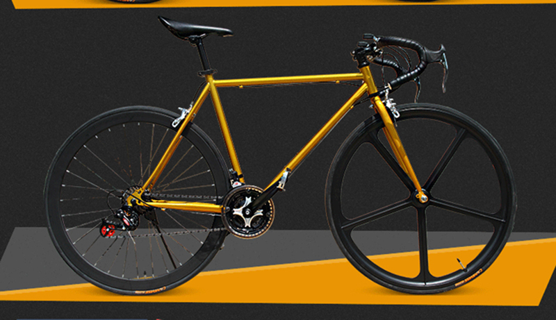Fixed Gear Bicycle 2015 new Road bicyle 48cm 51cm 52cm steel frame hot sale DIY Color Complete mountain fashion bicycle 700c 26C