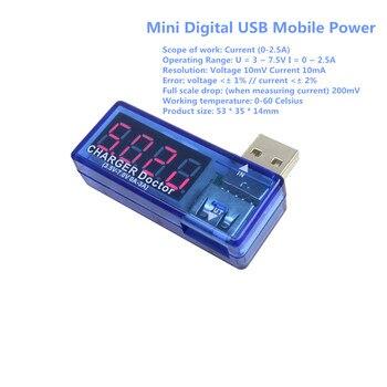Smart Electronics Digital USB Mobile Power Charging Current Voltage Tester Meter Mini USB Charger Doctor Voltmeter Ammeter