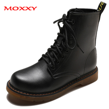 2019 New Gothic Black Martin Boots Women Leather Ankle Boots Women Shoes Ladies Lace Up Platform Combat Boots Women Botas Mujer prova perfetto black ankle boots for women rivets studded flat autumn botas mujer genuine leather platform rubber martin boots