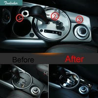 3 PCS Car DIY NEW Stainless Steel Five Style Stalls Decorative Panel Cover Case For 2013