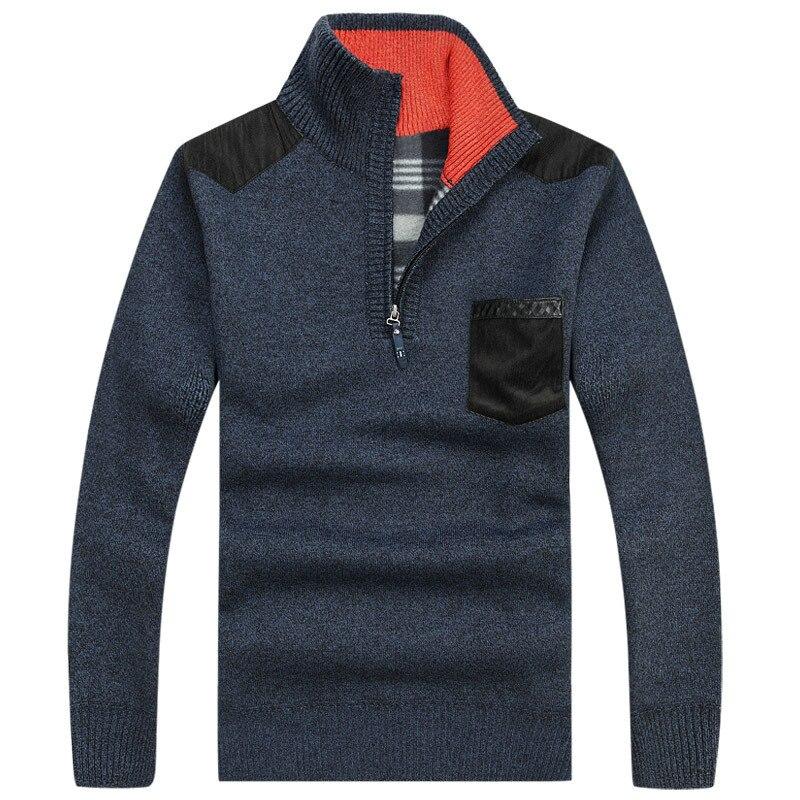 2018 Neue Herbst Winter Herren Gestrickte Pullover Strickjacke Casual Warme Wolle Pullover Männer