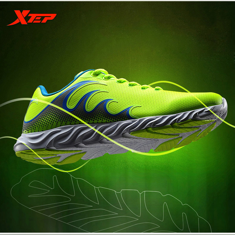 XTEP Brand Cheap Running Shoes for Men Athletic Sneakers Damping Sports Shoes Air Mesh Breathable New Men's Shoes 984319119960 new 3 color running shoes for men breathable running shoes men sports sneakers max running sneakers for men 8038