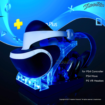 PS Move Motion PS4 Controller PSVR Headset Storage Showcase Joystick Charging Dock Station Stand Holder for PS VR MOVE 1