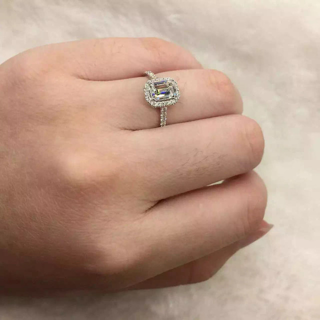 14K 585 White Gold 1CT Lab Grown Diamond Ring