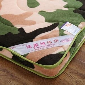 Image 2 - 6 cm épaisseur flanelle velours camouflage matelas tatami hôtel tatami tapis matelas literie Textile à la maison
