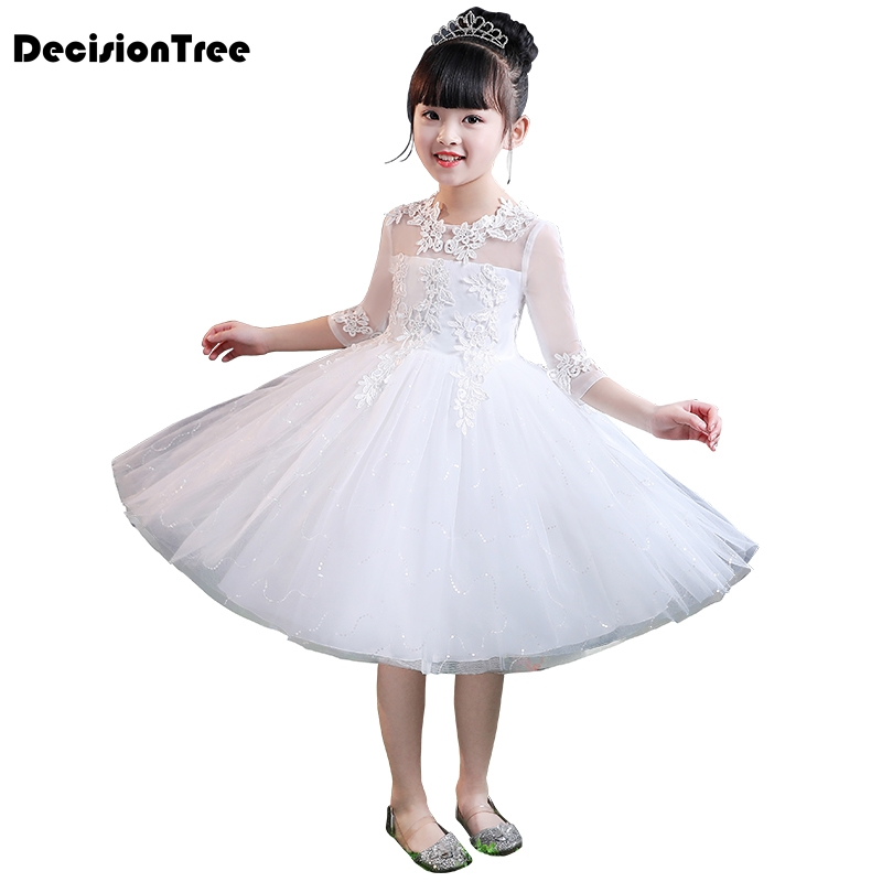 2019 new princess dresses girls sofia cosplay costume layers children kids floral halloween party tutu dress up