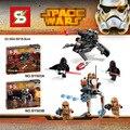 2 Шт./лот SY503 ЗВЕЗДНЫЕ войны Коммандос Troopers Империал Trooper building blocks набор ассамблея Рис игрушки, Совместимых С Legoe
