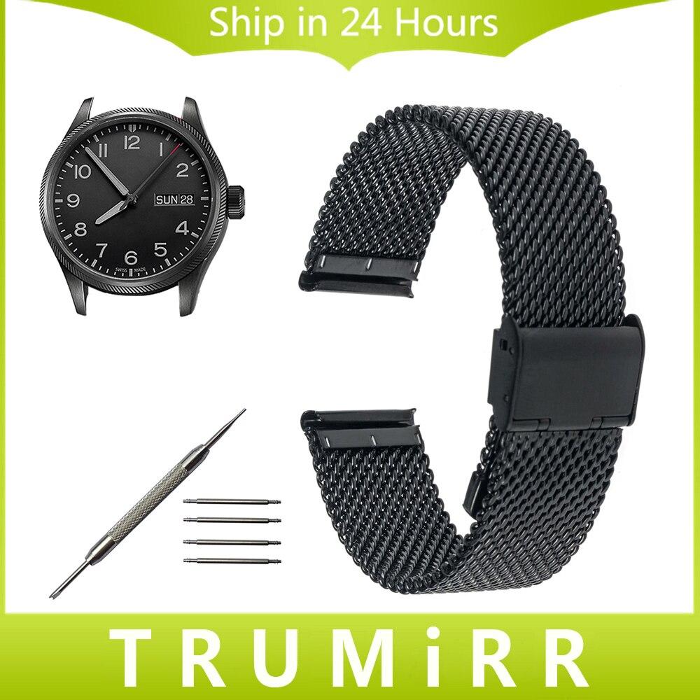 18mm 20mm 22mm 24mm Milanese Watchband for Oris Men Women Watch Band Stainless Steel Strap Wrist Belt Bracelet Black Gold Silver кабель антенный hama h 83190 coax m coax f 1 5m