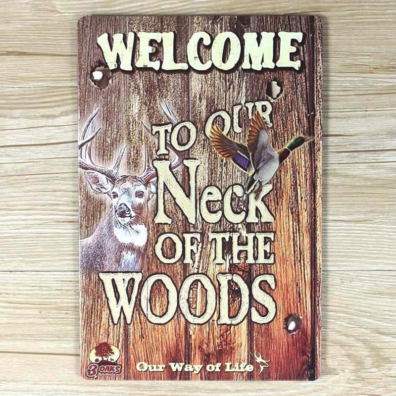 Metal Tin Sign neck of the woods Pub Bar Home Vintage Retro Poster Cafe ART