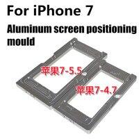 1 unids Pantalla de vidrio molde para iPhone 7 7 Plus aluminio posicionamiento pantalla fixture herramientas de reparación piezas