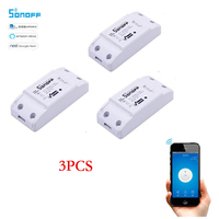3pcs Sonoff Wifi Switch Wifi Controlled Smart Switch Wireless Relay Switch Universal DIY Timer Switch Smart