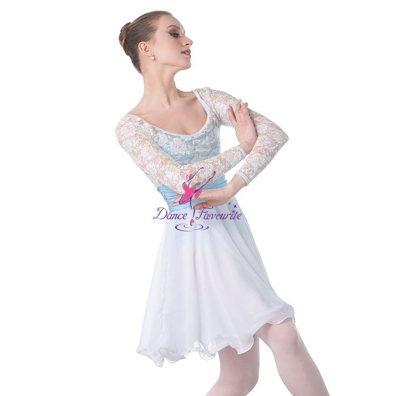 White stage performance ballet costume, Lady Lyrica ballet dress dance costume ballet tutu Girl Ballet Costumes