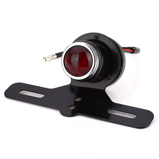 Break Stop Lamp Motorcycle Motorbike LED Tail Light for Harley Running Tail Light Super Bright with ABS Plastic Material