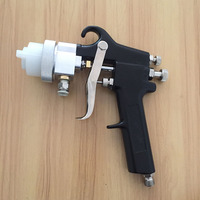 SAT1182 Air Car Painting Gun Chrome Plating Chemical Double Nozzle Pressure Feed Type Spray Gun High Pressure Pneumatic Paint