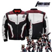 Avengers 4 Quantum Realm Superhero iron Man Captain America All Over Print Bomber MA-1 Flight Jacket Spider Endgame